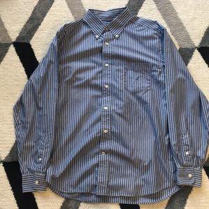 Nautica Striped Button Up Dress Shirt